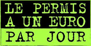 permis à 1 euros par jour